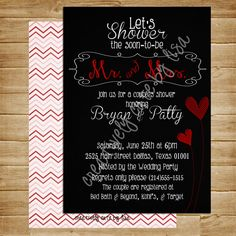 Couples Shower Invitation Photo Card 5x7 by CreativelyCutebyLisa, $9.75