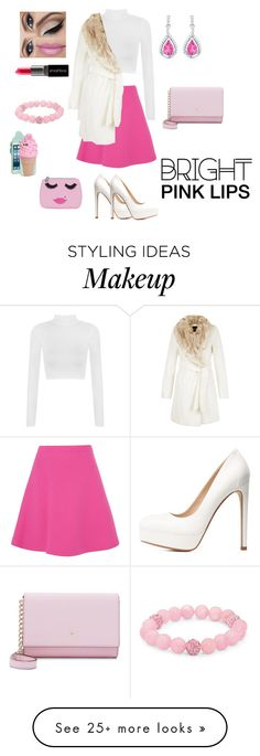 """""""Bright Pink Lips"""" by princessm2004 on Polyvore featuring WearAll, Miu Miu, Charlotte Russe, Kate Spade, Smashbox, Palm Beach Jewelry and Emma Lomax"""
