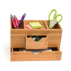 Bamboo Three-Tier Desk Organizer Image