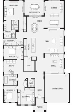 1000 images about floor plans on pinterest new homes for Open plan house designs australia