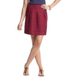 Zig Zag Stripe Print Pleated Summer Stroll Skirt