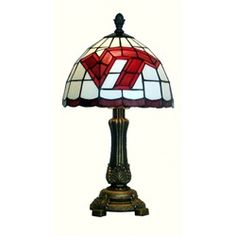 Virginia Tech VT Hokies Tiffany Style Stained Glass Table Lamp