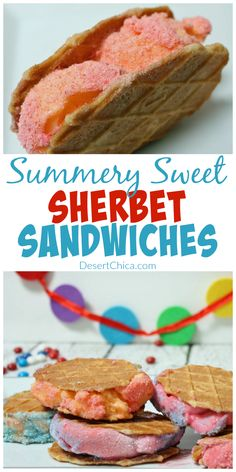 How to make summery sweet sherbet sandwiches!