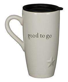 Love a ceramic travel mug. :: 'Good to Go' Travel Mug