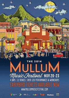 Mulum Music Festival 2014  Artwork by Michael White