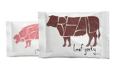 Studio Playground likes this packaging design: Real Meat Jerky (Student Project) on Packaging of the World - Creative Package Design Gallery Food Packaging Supplies, Food Packaging Design, Packaging Design Inspiration, Brand Packaging, Retail Packaging, Nice To Meat You, London Logo, Organic Packaging, Snack Brands