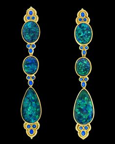 Black opal and hauynite.  Amazing!