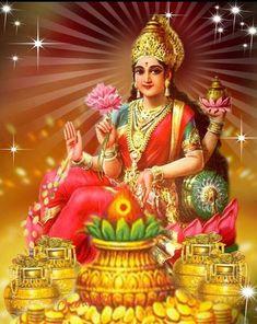 Hindu God-Goddess Pictures and Graphics Lakshmi Photos, Lakshmi Images, Shiva Hindu, Hindu Deities, Durga Maa, Indian Goddess, Goddess Lakshmi, Radha Krishna Pictures, Krishna Art