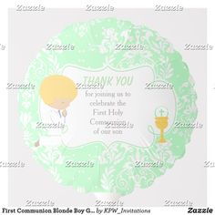 Shop First Communion Blonde Boy Silver Damask Balloon created by KPW_Invitations. Helium Gas, Photo Balloons, First Communion Invitations, Balloon Shapes, Custom Balloons, Blonde Boys, First Holy Communion, Invitation Design, Damask