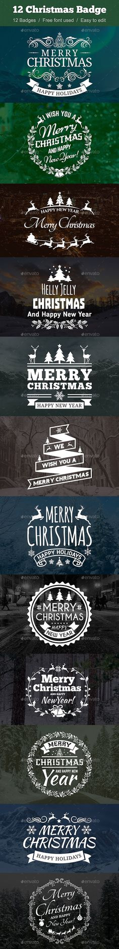 12 Christmas Badges Template #design Download: http://graphicriver.net/item/12-christmas-badge/13593433?ref=ksioks