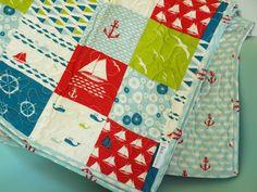 Birch Organic Play Quilt Set Sail Patch