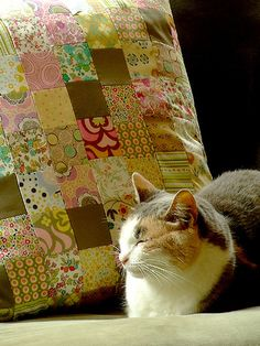 Patchwork pillow loveliness