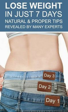 6 Very Simple Tips To Lose Weight In One Week | Cute Health