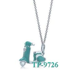Tiffany Co Blue Scooter Charm Pendant Cheap Sale
