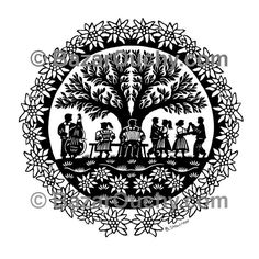 Carte decoupage suisse - BazarOuchy.com Scandinavian Folk Art, Image Fun, Stencil Painting, Tree Of Life, Laser Engraving, Paper Cutting, Stencils, Bird, How To Make