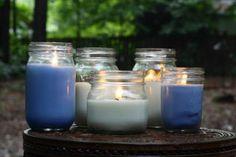 Diy citronella candles, diy bug repellant