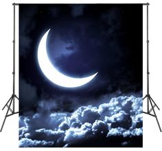 Moon Clouds Photoshoot Backgrounds Video Photo Studio Backdrops Vinyl Polyester Wallpapers Studio Backdrops, Vinyl Backdrops, Christmas Backdrops, Buy Vinyl, Photo Processing, New Backgrounds, Good Night Moon, Shot Photo, Background For Photography
