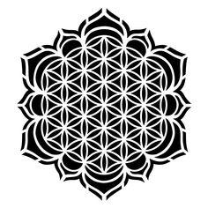 Hochwertige Laser-Kunststoff-Schablone zur Gestaltung von Textilien, Din A4… Geometric Tattoo Design, Geometric Mandala, Mandala Tattoo Design, Mandala Art, Geometric Shapes, Tattoo Designs, Sacred Geometry Patterns, Sacred Geometry Art, Tattoo Artwork