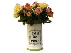 Porcelain Apothecary Jar. Rose Water Large by LeBonheurDuJour