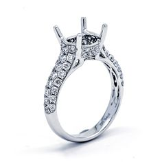 Round Center Pave Solitaire