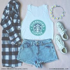 Starbucks themed outfits. How cute. #starbucks