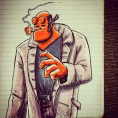#sketch_dailies # hellboy