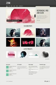 Zeni - 10 Cool HTML5 Templates for Free