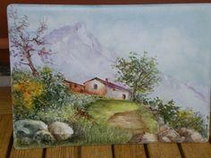 Fernanda Cantoni - paesaggio dipinto a mano.