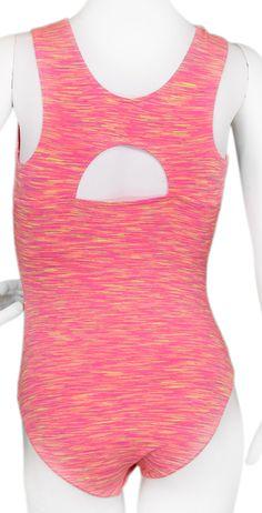 Pink Jersey Stick It Leotard (Alternate View) #leotards #leotard #gymnastics #gymnast
