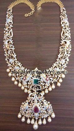 Latest Diamond Set by Vaishnavi Jewels