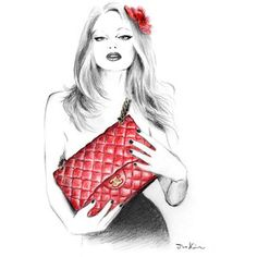 I love my #Chanel bag #art #fashion #photography #illustration #red