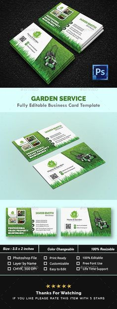 Garden Landscape Business Card Templates 21434810