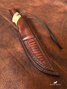 Hunting knife, laminated tool steel with copper, bronze, stabilized Karelian birch #scottie_knives