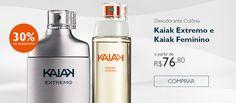 Paulo Bernardi - Comprar Online na Rede Natura. Desodorante Colônia Kaiak Extremo e Kaiak Feminino Dois sucessos da perfumaria Natura com 30% de desconto.