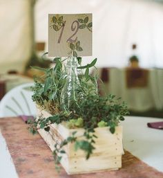 This #weddingcenterpiece is just too perfect! See more from this #backyardwedding #onRWC now!