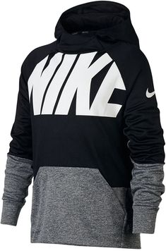 Nike Boys' Therma Pullover Training Hoodie (Black/Carbon Heather, Size Large) - Boy's Apparel, Boy's Fleece at Academy Sports Sporty Outfits, Nike Outfits, Boy Outfits, Comfy Hoodies, Boys Hoodies, Sweatshirts, Tween Boy Fashion, Sporty Teen, Nike Gear