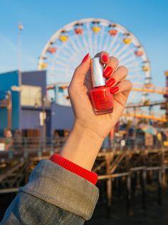 We're at the Santa Monica Pier wearing Me Myselfie and I Opi Nail Colors, Fall Nail Colors, Opi California Dreaming, Vacation Nails, Peach Nails, Tough As Nails, Opi Nails, Gel Color, Nail Tech