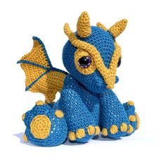 Amigurumi Dragon - Clancy - cute fella! Crochet - intermediate.