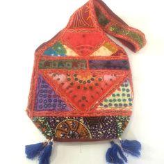 Bongojazz Designer Patchwork Shoulder Bag From India  Ethnic Tribal Boho Hippy