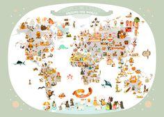 Mapa mundi by Julie Mercier