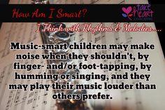 Think with Rhythm & Music.....How am I Smart?
