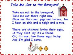 Take Me out to the Barnyard song Freebie
