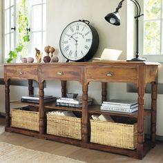Consolle in legno grigio Newport | Living | Pinterest | Legno grigio ...
