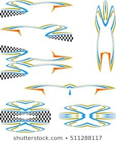 2 RV TRAILER LIGHTHOUSE SIDE ACCENT STRIPES GRAPHICS DECALS 79