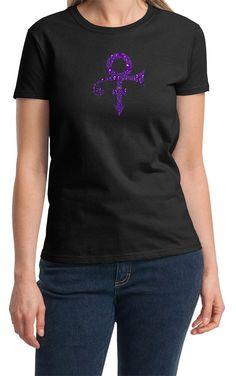 Prince tribute raindrop tear drop Purple Rain Logo Tee T-Shirt