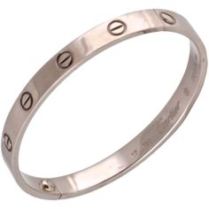 CARTIER White Gold Love Bracelet ❤ liked on Polyvore