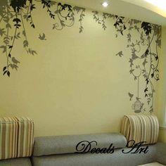 Vines -Vinyl wall sticker- wall decal- tree decals- wall murals art - nursery wall decals- Nature- Tree