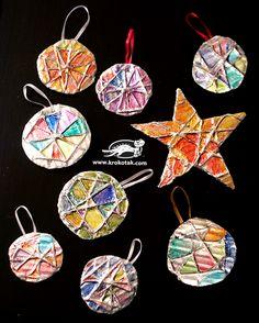 Christmas toys from aluminium foil