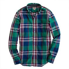 Indian cotton shirt in Broome plaid....LOVE all the plaid shirts.