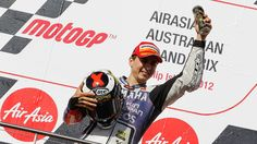 Yamaha Factory Racing's Jorge Lorenzo made history in the AirAsia Australian Motorcycle Grand Prix at Phillip Island today, as he became the first Spanish rider to win the premier-class title more than once, after coming second and securing an insurmountable 43-point cushion with one race left.